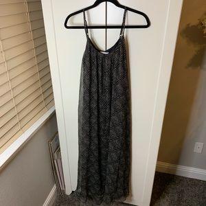 Jessica Simpson Maternity Sheer Overlay Maxi Dress